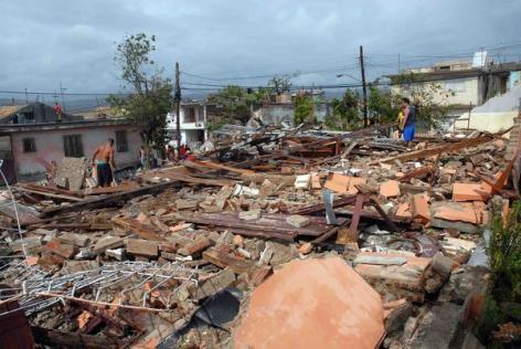 Daños en Santiago de Cuba